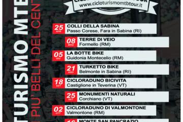 Calendario Cicloturismo MTB Tour 2016
